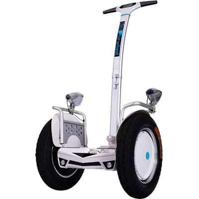 - Easy Go S5, plataforma eléctrica cómoda y muy estable, blanco y azul