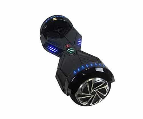 """- Hoverboard niño eléctrico ruedas LAMBO 6,5"""" NEGRO"""