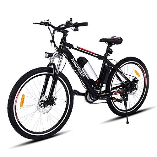 - Teamyy Bicicleta de Montaña Eléctrica Rueda de 26 pulgadas
