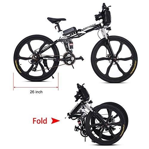 - Teamyy Bicicleta Plegable de Montaña con Batería de Iones de Litio